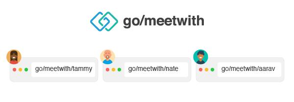 Google Meet variable go links