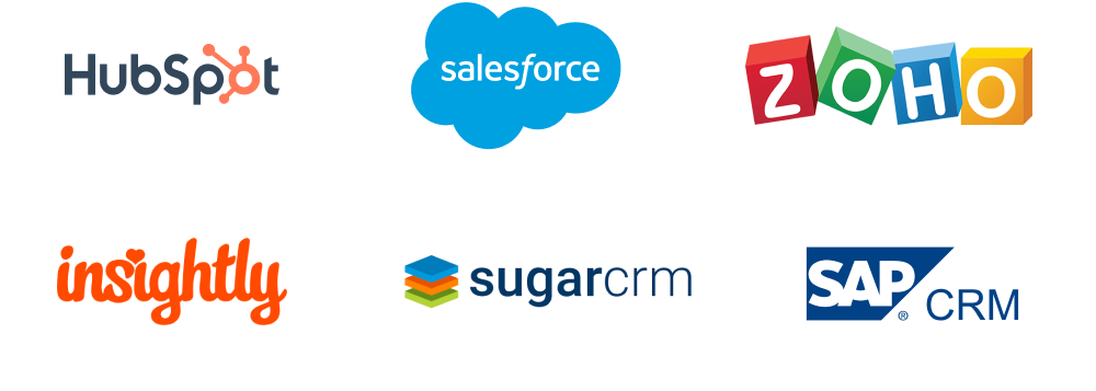 Customer relationship management (CRM) tools: Hubspot, Salesforce, Zoho CRM, Insightly, SugarCRM, SAP CRM