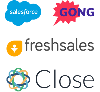 Sales deal tracking tools: Salesforce, Gong, Freshsales, Close