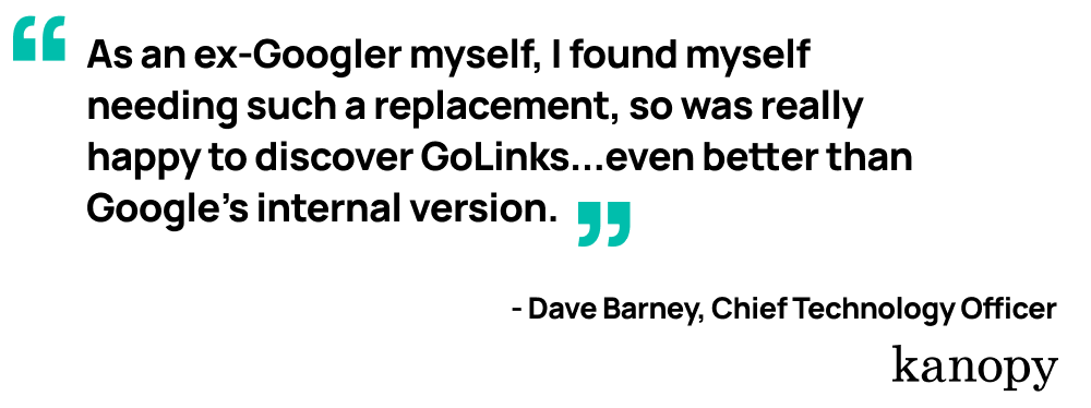 Quote from Kanopy's Chief Technology Officer, Dave Barney