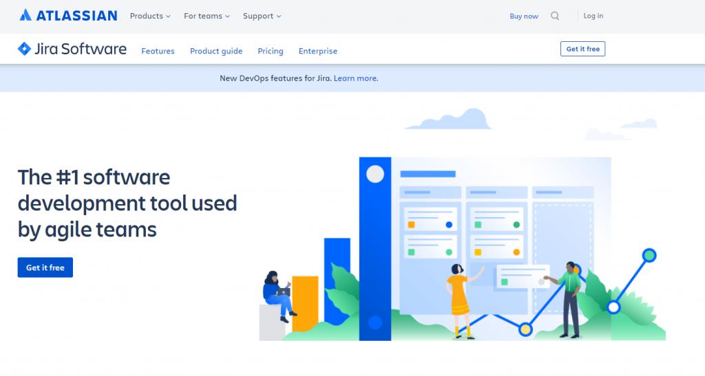 Jira Software enterprise app landing page