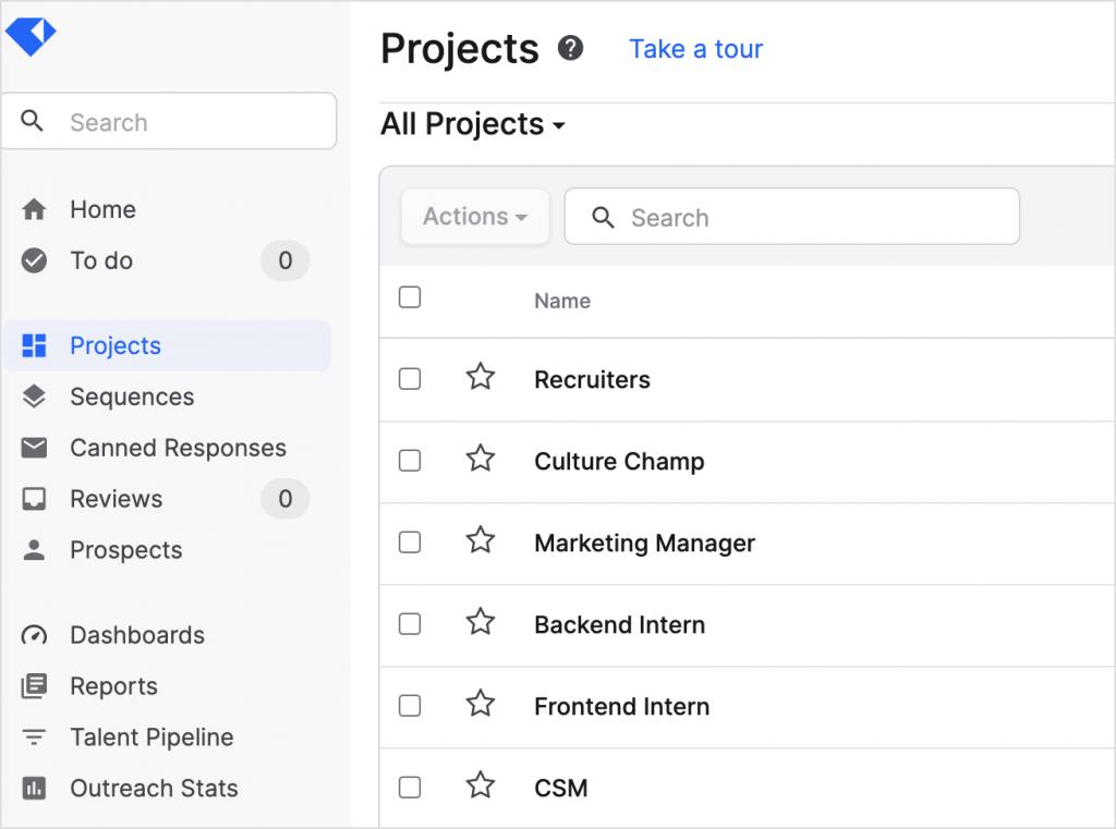 Gem platform used for recruitment